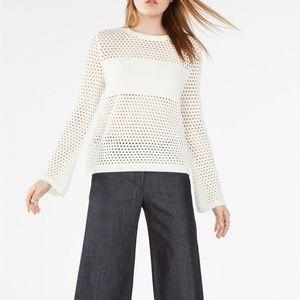 BCBGMAXAZRIA Joeli Mesh Pullover Sweater